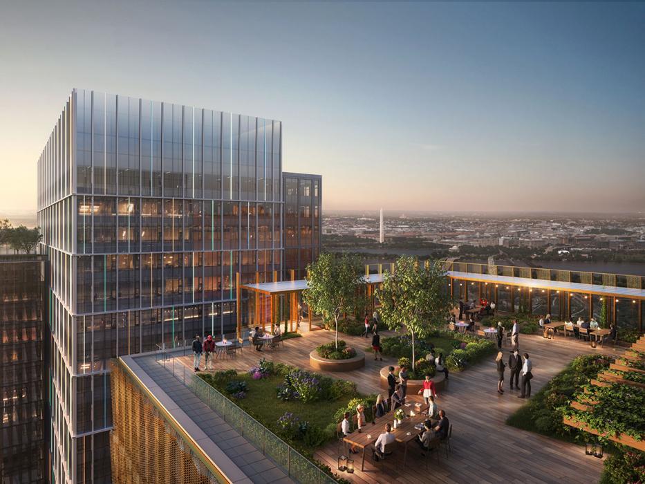 Thornton Tomasetti bietet bautechnische Dienstleistungen für die erste Phase des zweiten Hauptsitzes von Amazon in Arlington, Virginia.